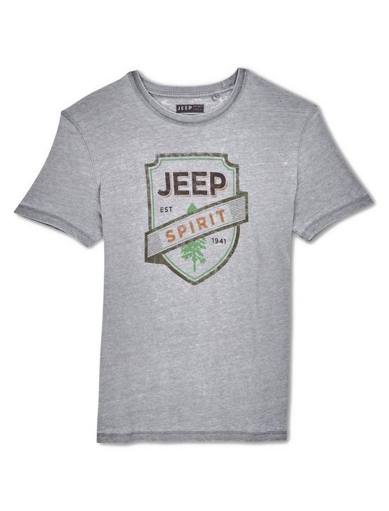 JEEP FOREST TEE, FROST GRAY, productTileDesktop