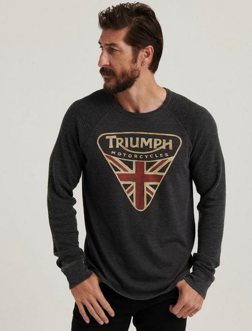 TRIUMPH BADGE THERMAL, JET BLACK