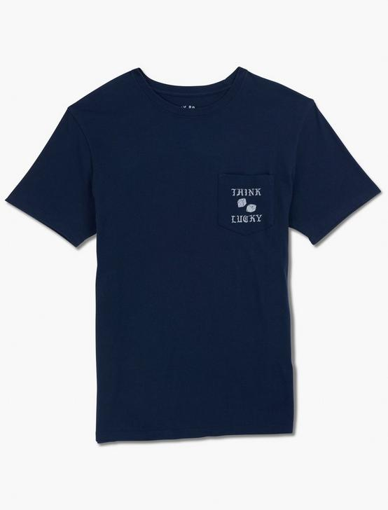 THINK LUCKY TEE, AMERICAN NAVY, productTileDesktop