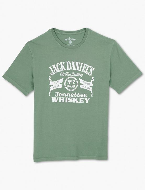 JACK DANIELS GREEN LABEL TEE, ELM GREEN, productTileDesktop