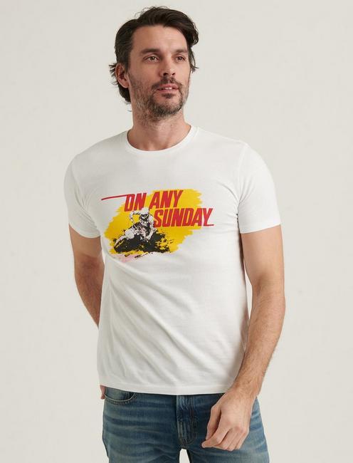ON ANY SUNDAY TEE, BRIGHT WHITE