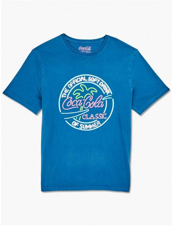 COCA COLA NEON TEE, INSIGNIA BLUE, productTileDesktop