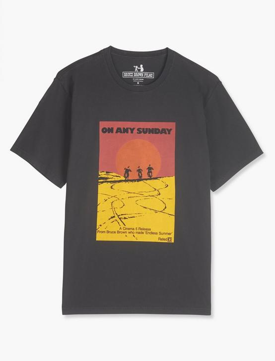 ON ANY SUNDAY POSTER TEE, JET BLACK, productTileDesktop