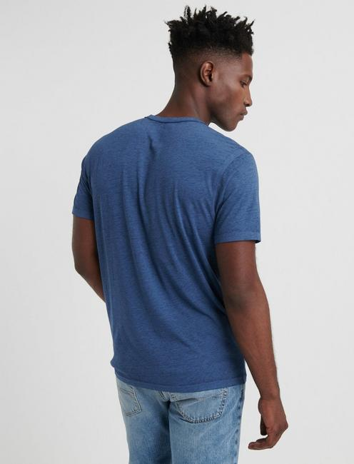 Venice Burnout Henley Shirt, NAVY