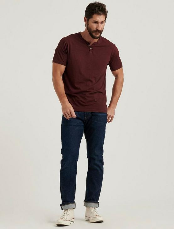 Venice Burnout Notch Neck Tee, MADDER BROWN, productTileDesktop