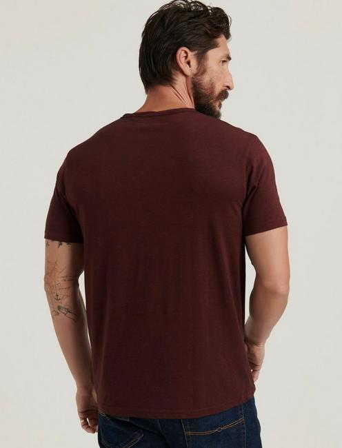 Venice Burnout Notch Neck Tee, MADDER BROWN