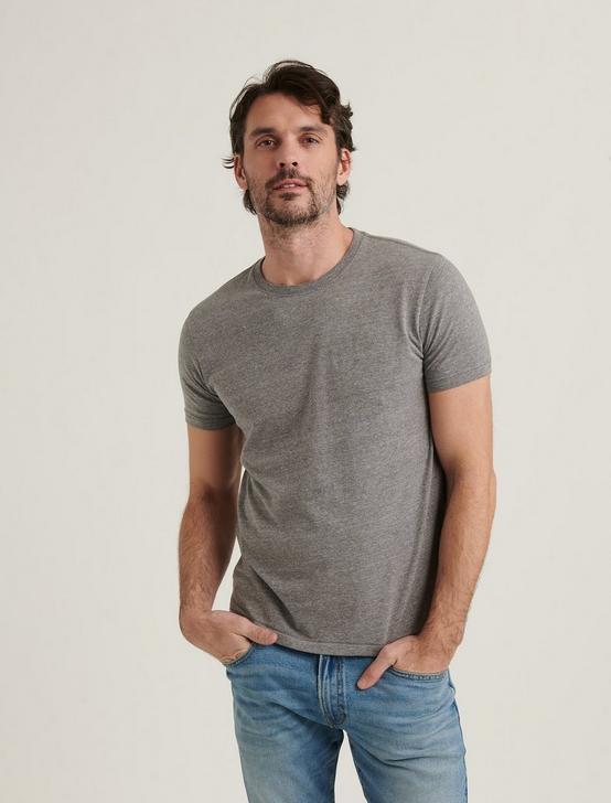 TRIBLEND CREW NECK SHORT SLEEVE TEE, GREY, productTileDesktop