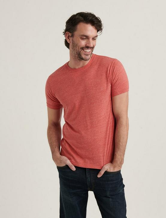 TRIBLEND CREW NECK SHORT SLEEVE TEE, POMPEIAN RED, productTileDesktop