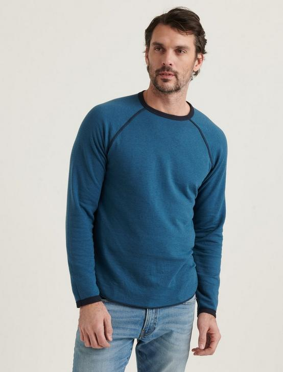LONG SLEEVE REVERSIBLE CREW NECK TEE, BLUEBERRY, productTileDesktop