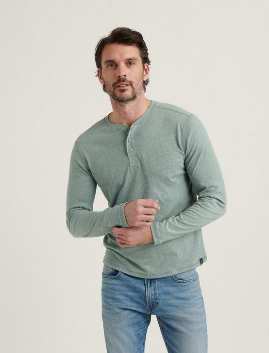 TRIBLEND LONG SLEEVE HENLEY, LAUREL WREATH, productTileDesktop