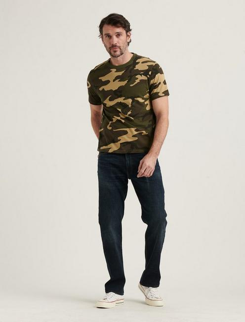 SUNSET CREW NECK TEE, CAMO (ARMY COLORS)