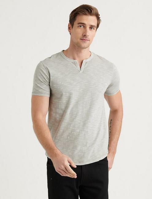 SLUB NOTCH NECK TEE, PALOMA