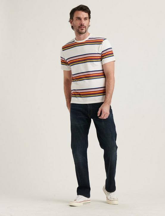STRIPE SUNSET POCKET CREW NECK TEE, MULTI, productTileDesktop
