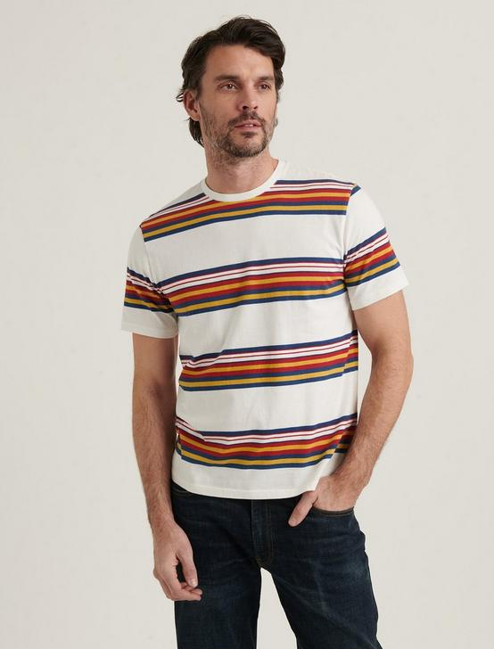 SUNSET STRIPE CREW NECK TEE, MULTI, productTileDesktop