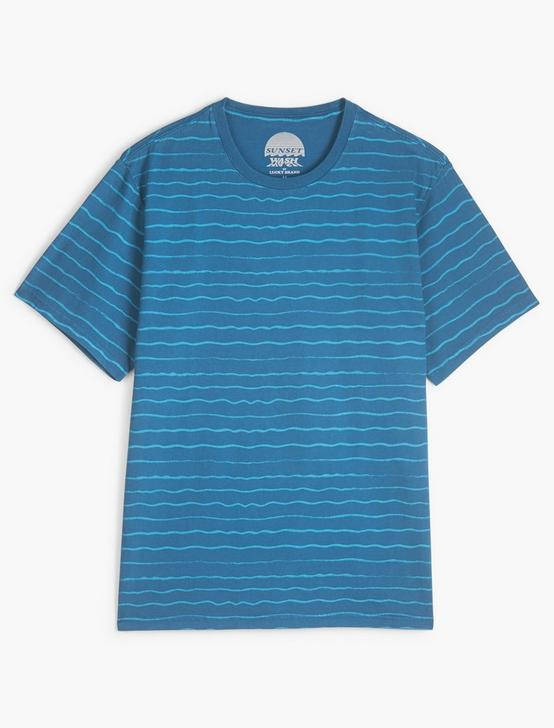 SUNSET STRIPE CREW NECK TEE, INK BLUE, productTileDesktop
