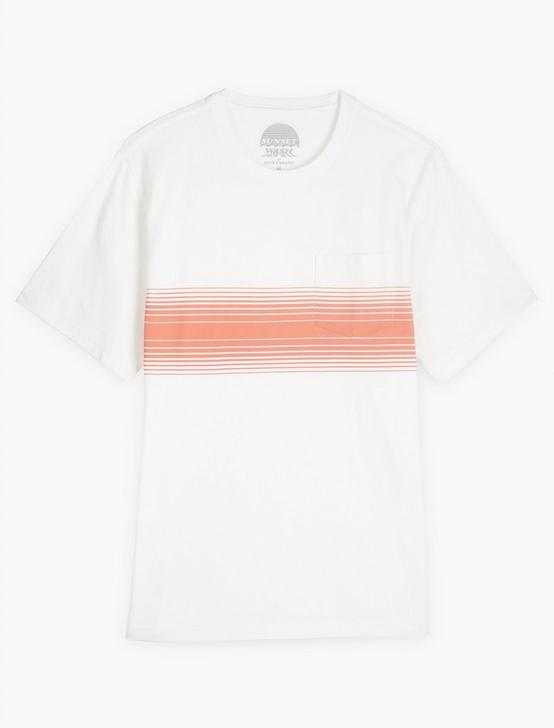 SUNSET CHEST STRIPE TEE, RED STRIPE, productTileDesktop