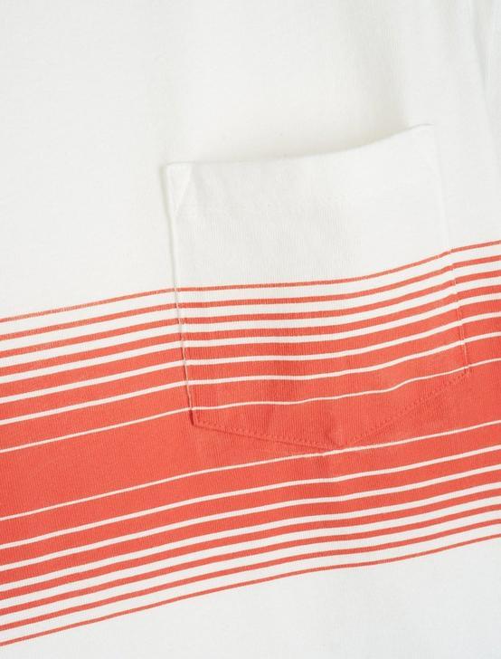 SUNSET CHEST STRIPE TEE, RED STRIPE, productTileDesktop