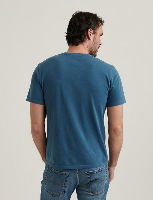 SUNSET CREW NECK TEE, INDIAN TEAL