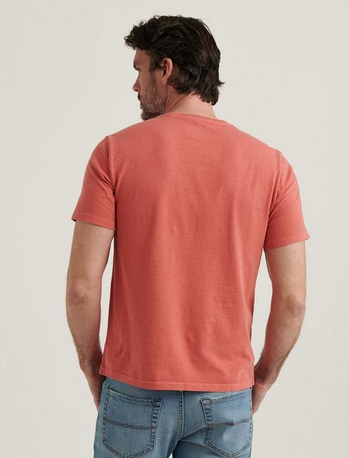 SUNSET CREW NECK TEE, MINERAL RED