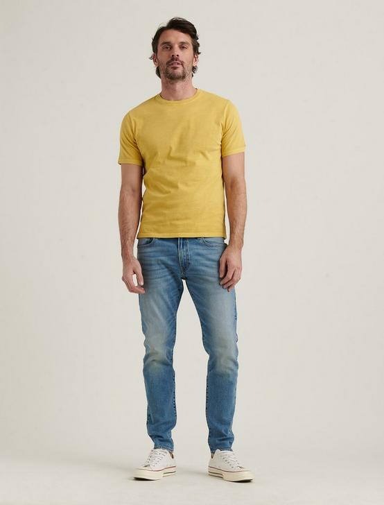 SUNSET CREW NECK TEE, OCHRE, productTileDesktop