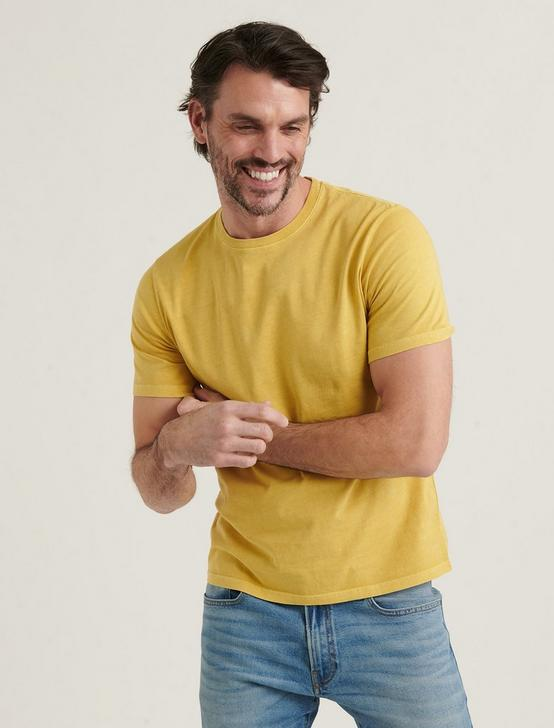SHORT SLEEVE SUNSET CREW NECK TEE, OCHRE, productTileDesktop