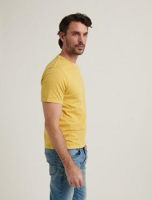 SUNSET CREW NECK TEE, OCHRE