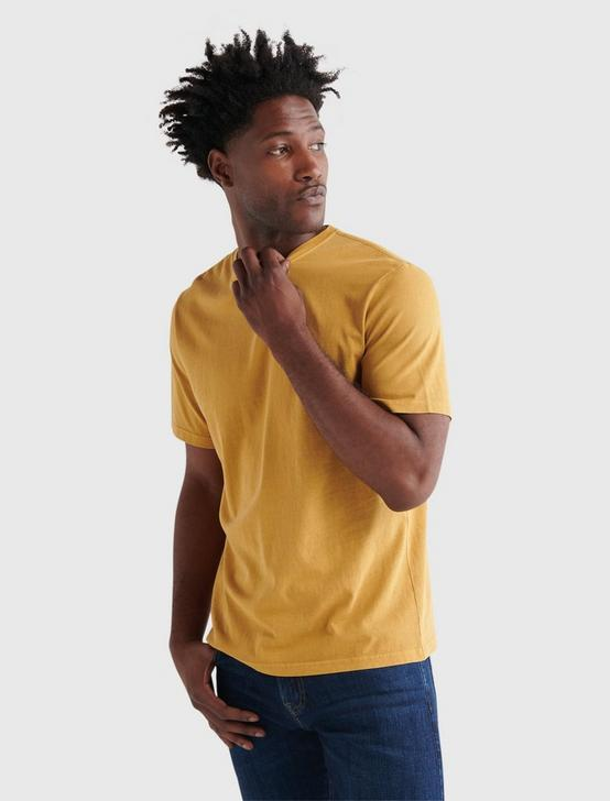 SUNSET CREW NECK TEE, MUSTARD GOLD, productTileDesktop