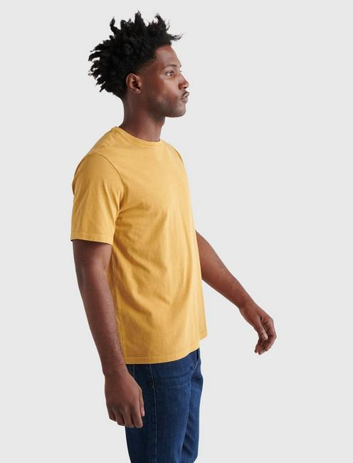 SUNSET CREW NECK TEE, MUSTARD GOLD