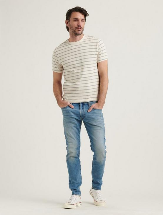 STRIPE SUNSET CREW NECK TEE, GREY MULTI, productTileDesktop