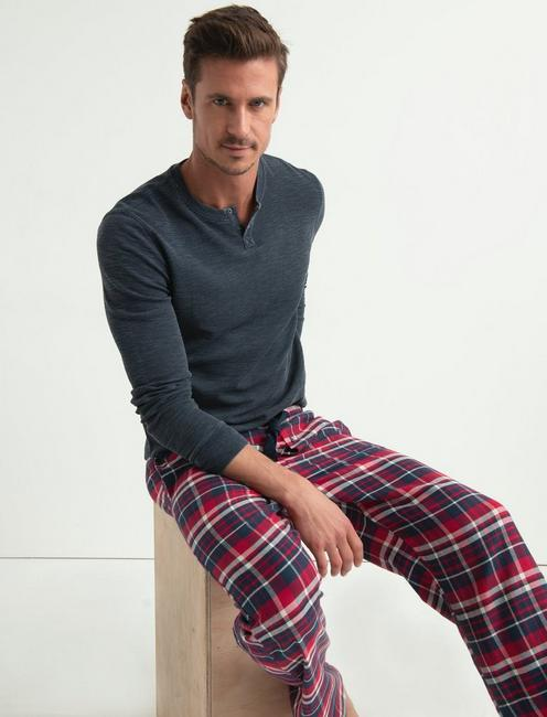 COTTON VISCOSE FLANNEL PANT,