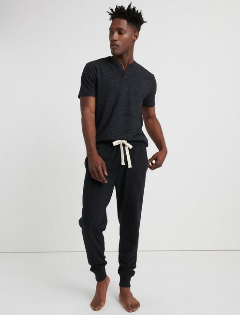 Black Knit Mens Lounge Pants