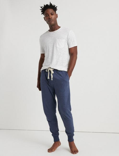 INDIGO KNIT MENS LOUNGE PANTS, RINSE