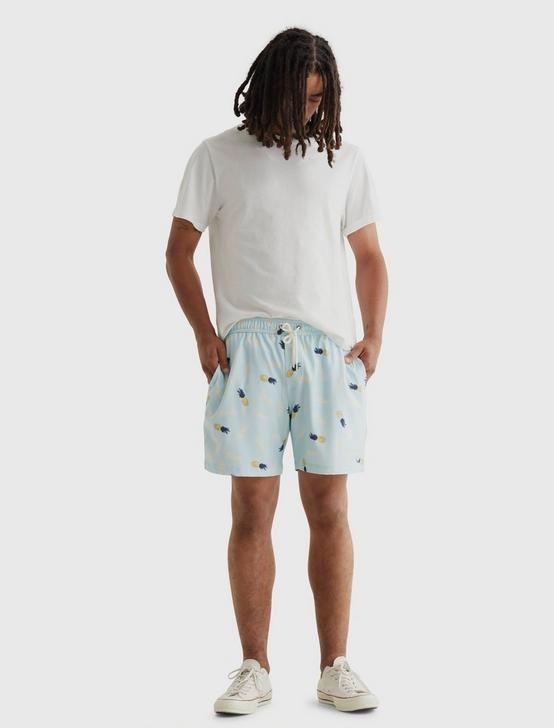 TRUE SWIM SHORT, LT BLUE PINEAPPLE PT, productTileDesktop