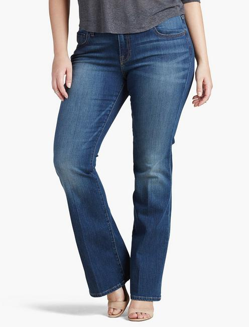 PLUS SIZE GINGER BOOTCUT JEAN IN AMAZONITE,