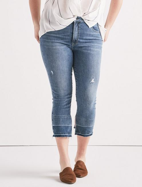 Lucky Plus Emma Crop Jean With Fray Hem