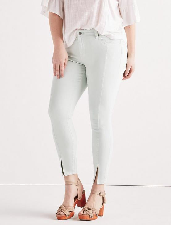 Plus Ginger Skinny Jean With Split Hem