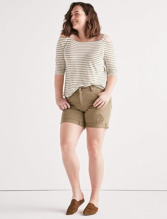 Plus Georgia Roll Up Jean Short, REYES-OLIVE, productTileDesktop