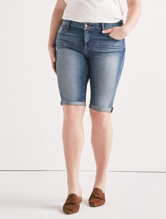 Plus Ginger Bermuda Jean Short, TAMARAC-FRAY, productTileDesktop