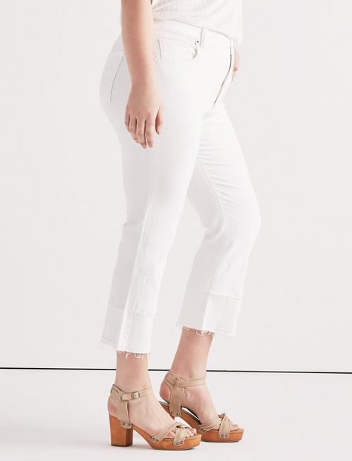 Plus Emma Mini Boot Jean In Clean White