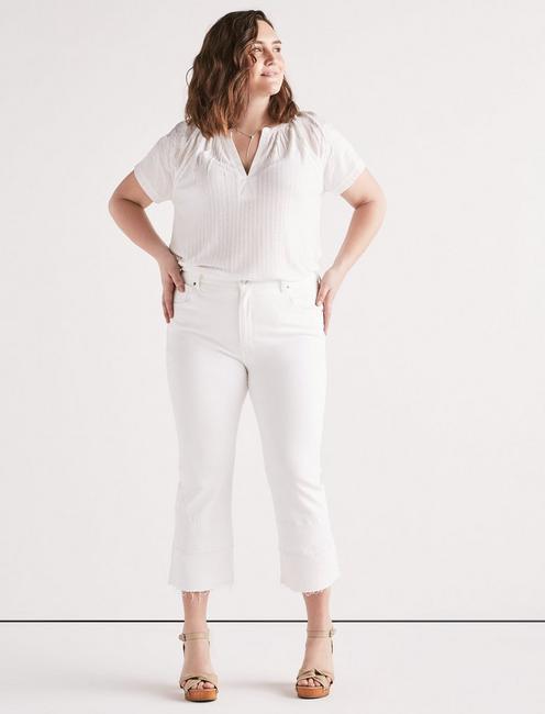 Plus Emma Mini Boot Jean in Clean White, CLEAN WHITE-HRH