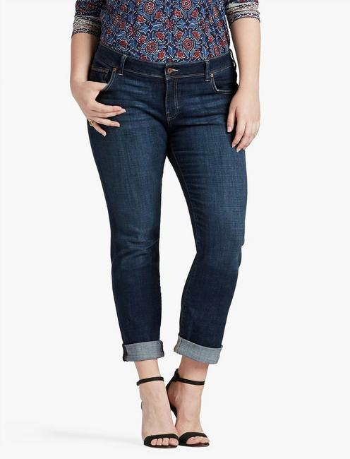 PLUS SIZE GEORGIA STRAIGHT LEG JEAN IN RAMPART,