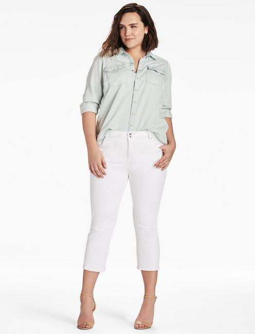 PLUS SIZE EMMA CROPPED JEAN IN CLEAN WHITE, CLEAN WHITE