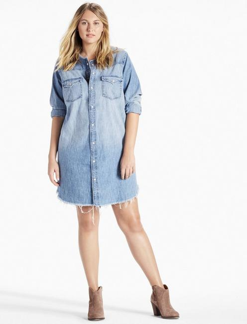 Plus Size Denim Western Shirt Dress | Lucky Brand
