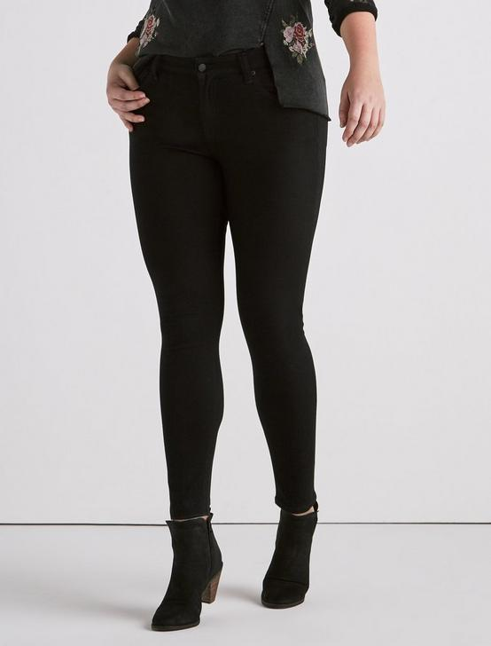Plus Ginger Skinny Jean in Bell Road Black, BELL ROAD, productTileDesktop