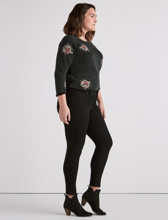Plus Ginger Skinny Jean in Bell Road Black, BELL ROAD, productTileDesktop