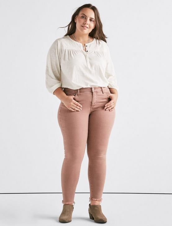 Plus Lolita Mid Rise Skinny Jean, ANTLER PINK FRAY-K, productTileDesktop