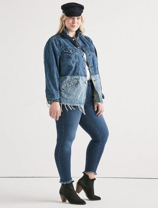 LUCKY REMADE PIECED WAISTED TRUCKER JACKET, BOLGART, productTileDesktop