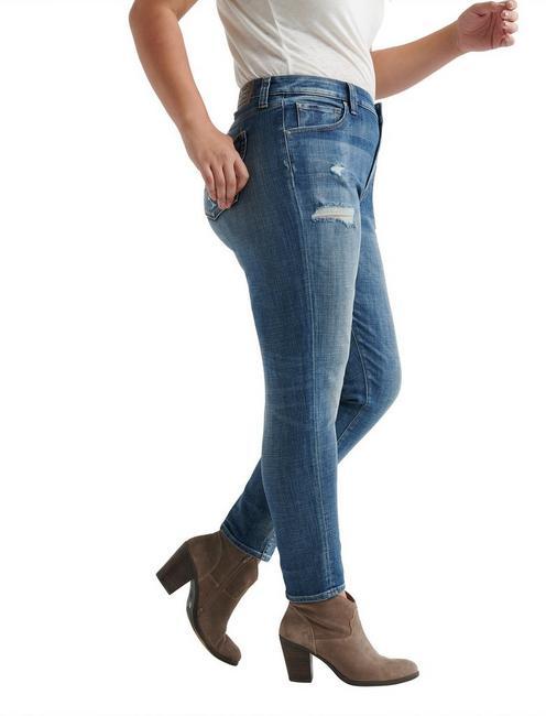 47x28 Lucky Brand Women Plus Size 24W Reese Boyfriend Denim Jeans Dark Wash