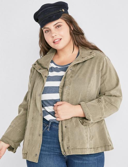 PEPLUM BACKED MILITARY JACKET,