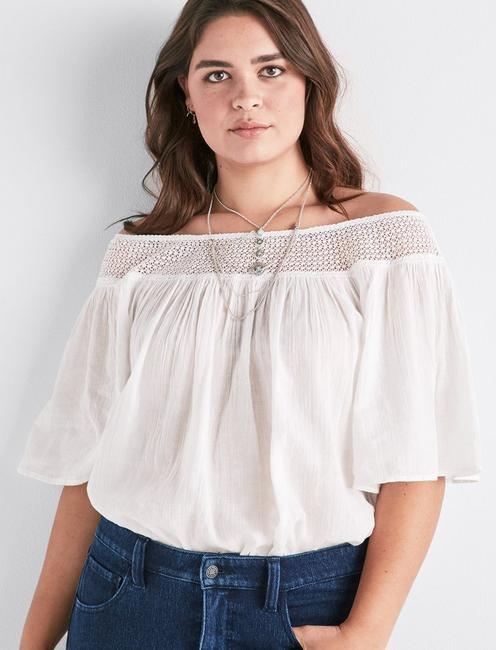 38956c573ee Off Shoulder Crochet Top | Lucky Brand